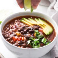 Quick and Easy Canned Black Bean Soup