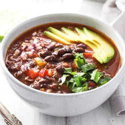 Canned Black Bean Soup