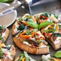 Veggie Pita Pizza Bites and The Casual Veggie Cookbook