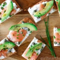 Smoked Salmon Appetizer with Goat Cheese & Avocado