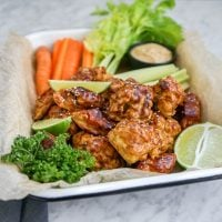 "Cauliflower and Carrot ""Wings"""
