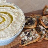 Roasted Cauliflower White Bean Hummus