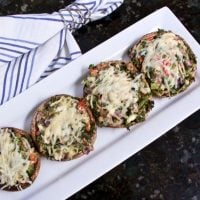 Spinach and Cream Cheese Stuffed Mushroom Appetizers