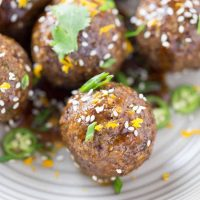 Asian Spiced Quinoa Meatballs with Orange Sauce