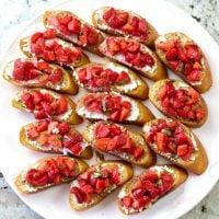 Strawberry Basil Bruschetta Recipe