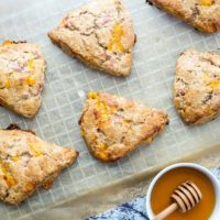 Whole Wheat Ham and Cheese Scones
