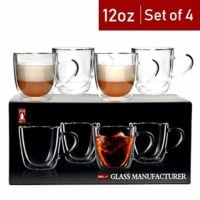 Double Wall Insulated Glass Mugs
