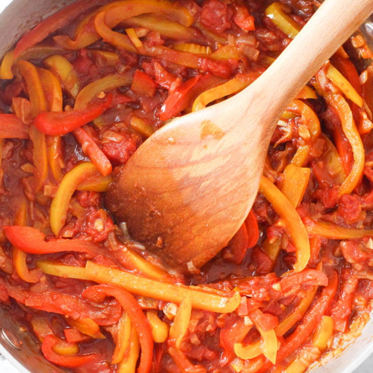 Peperonata (Stewed Peppers Recipe)