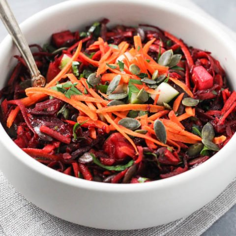 Raw Beet Salad (Shredded or Spiralized)