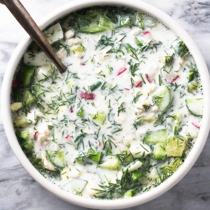 Okroshka (Russian Cold Soup)